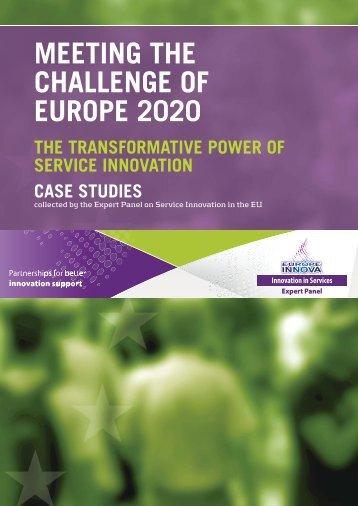 MEETING THE CHALLENGE OF EUROPE 2020 - Europe INNOVA