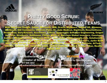 pretty good scrum: secret sauce for distributed teams - Sprettur