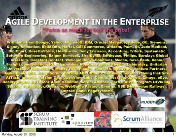 agile development in the enterprise - Object Technology Jeff ...