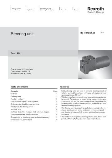 Steering Unit – Bosch Rexroth AG