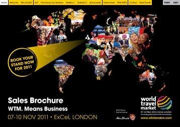 Sales Brochure WTM. Means Business - World Travel Market