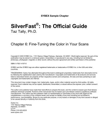 SilverFast : The Official Guide