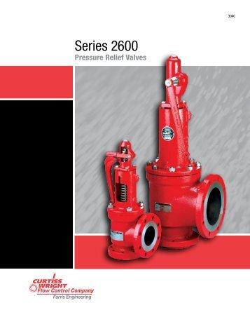 Series 2600 pressure relief valves - Farris Engineering