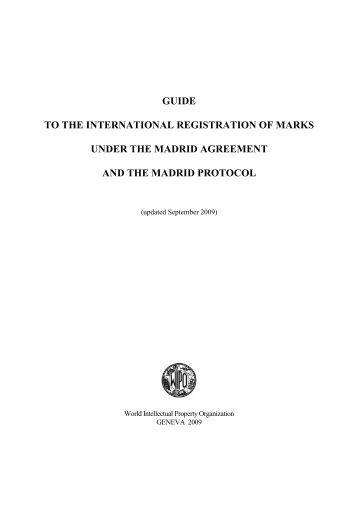 Madrid system for international registration of trademarks