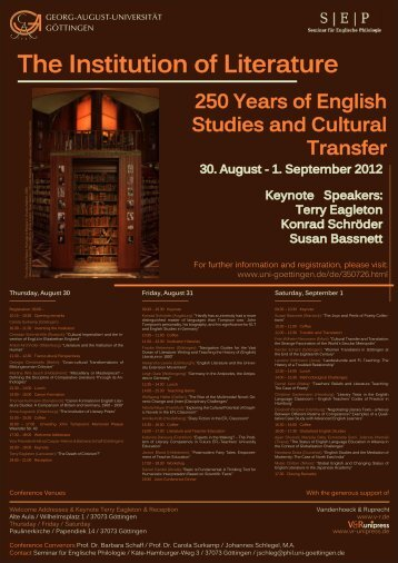 250 Years of English Studies and Cultural Transfer - areas