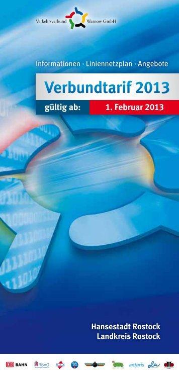 Verbundtarif 2013 - Verkehrsverbund Warnow