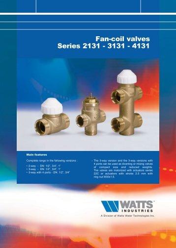 Fan-coil valves Series 2131 - 3131 - 4131 - Totaline
