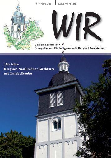 WIR Oktober - November 2011 - Evangelische Kirchengemeinde ...
