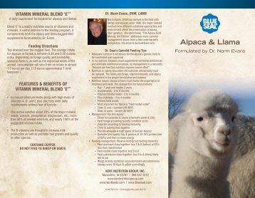 Alpaca & Llama - Blue Seal Feeds