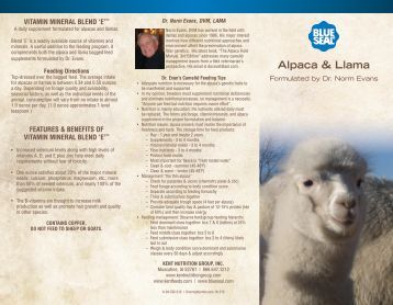 Alpaca & Llama - Blue Seal Feeds