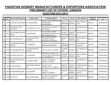 Pakistan Hosiery Manufacturers & Exporters Association (North Zone)