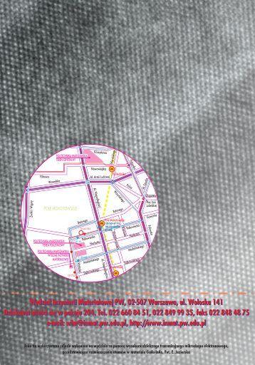 Pobierz Informator dla Kandatów (2.5MB) - Politechnika Warszawska