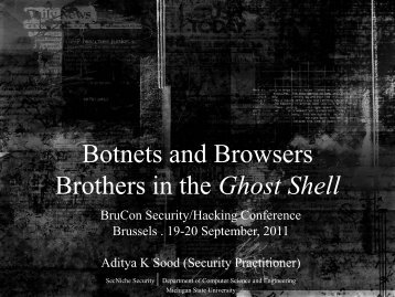 Botnets and Browsers - Brothers in the Ghost Shell - SecNiche ...