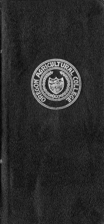 Alumni directory of the Oregon Agricultural College, Corvallis