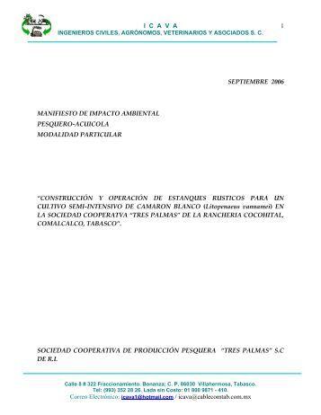 Construcción y Operación de Estanques Rústicos ... - sinat - Semarnat