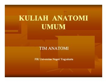 pengantar anatomi - Staff Site Universitas Negeri Yogyakarta