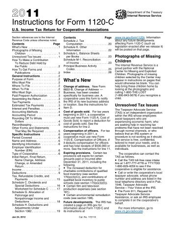 form 1120 filing instructions