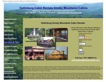 Gatlinburg Cabin Rentals Smoky Mountains Cabins - Smoky Cabins
