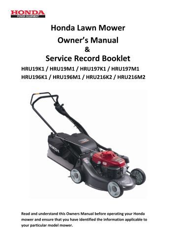 yardworks lawn mower owners manual