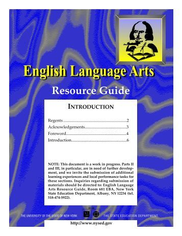 English Language Arts - p-12 - New York State Education Department