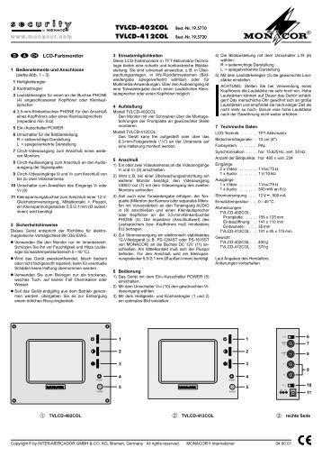 Italiano descrizione il v for Intellitherm c57