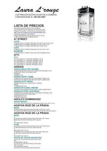 lista de precios - perfumes importados lauralarouge