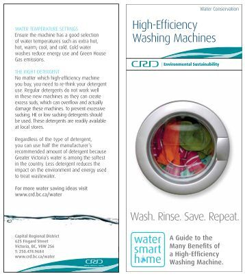 High-Efficiency Washing Machines - Capital Regional District