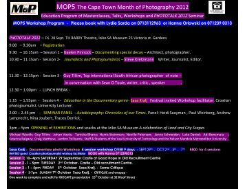 phototalk 2012 - South African Centre for Photography