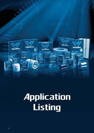 Applications by Make/Model - Valvoline
