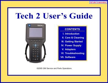 Tech 2 User's Guide - OTC