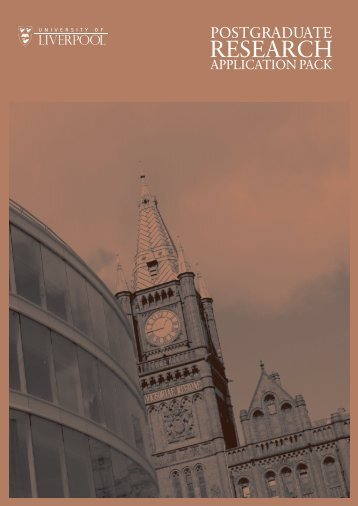 Research application form - University of Liverpool
