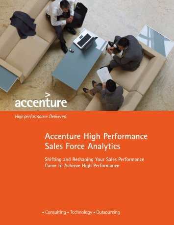 Accenture High Performance Sales Force Analytics