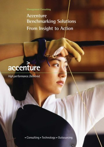 Accenture Benchmarking Solutions From Insight to Action