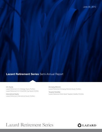 Lazard Retirement Series - Pacific Life Insurance Company
