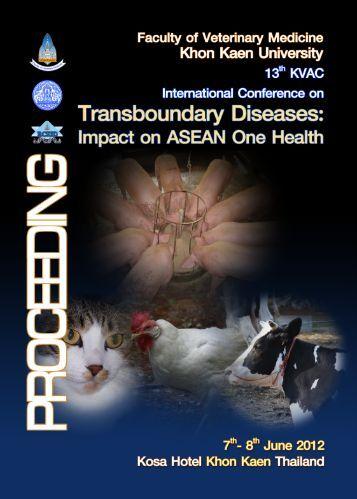 impact o na sean one health - KVAC 2012 ....VET MED KKU thailand ...
