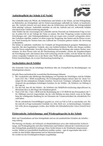 partnersuch aufsichtspflicht schule hessen