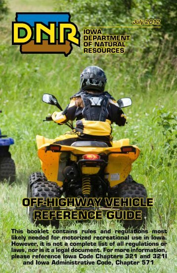 off-highway vehicle reference guide - Iowa Department of Natural ...