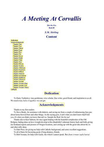 corvallis meeting ¿cómo puedo descargar a meeting at corvallis: a novel of the change (dies the fire) libros inicialmente, deberá elegir qué formato de archivo desea obtener para.
