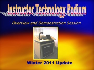 Classroom Podium Presentation