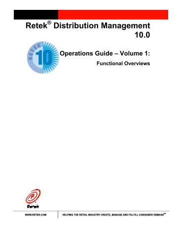 Operations Guide – Volume 1: Functional Overviews - Oracle ...