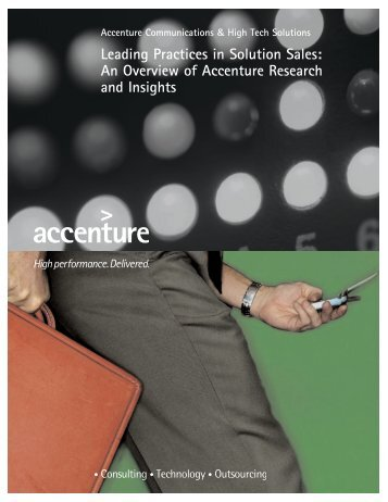 Leading Practices in Solution Sales: An Overview of Accenture ...