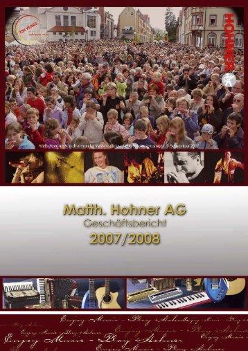 Lagebericht der Matth. Hohner AG
