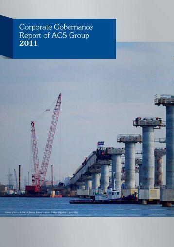 2011 Corporate Governance report - Grupo ACS