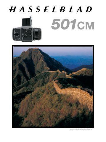 Especificaciones técnicas de la 501CM - Hasselblad