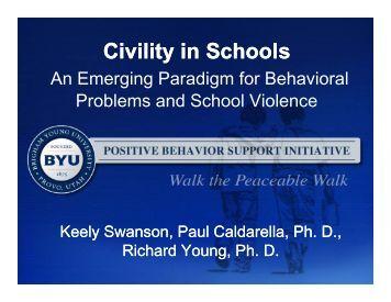 Civility in Schools - McKay School of Education