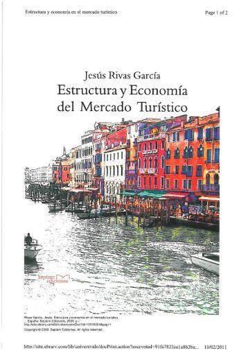 Estructura y Economía del Mercado Turístico - Amiando