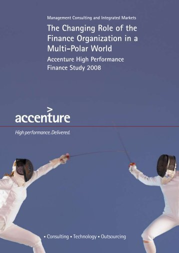 The Changing Role of the Finance Organization in a Multi-Polar World
