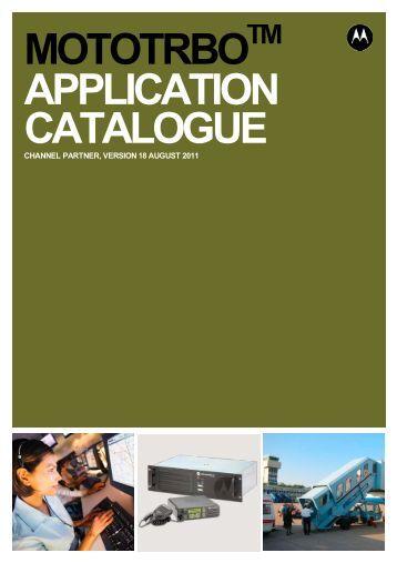 MOTOTRBO Application Partner Catalogue - Motorola