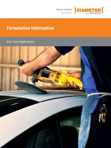 Formulation Information - Auto Care Applications - Xiameter