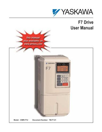 F7 drive user manual - elevator controls elevator drives